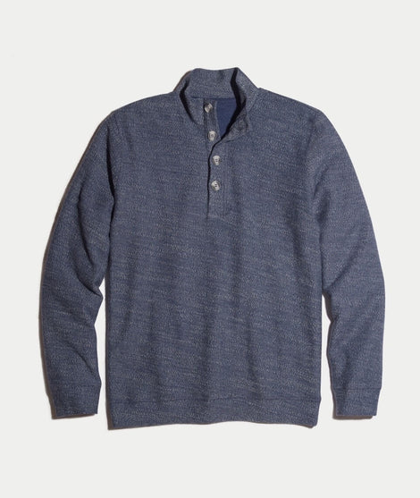 Clayton Pullover in Navy Boucle