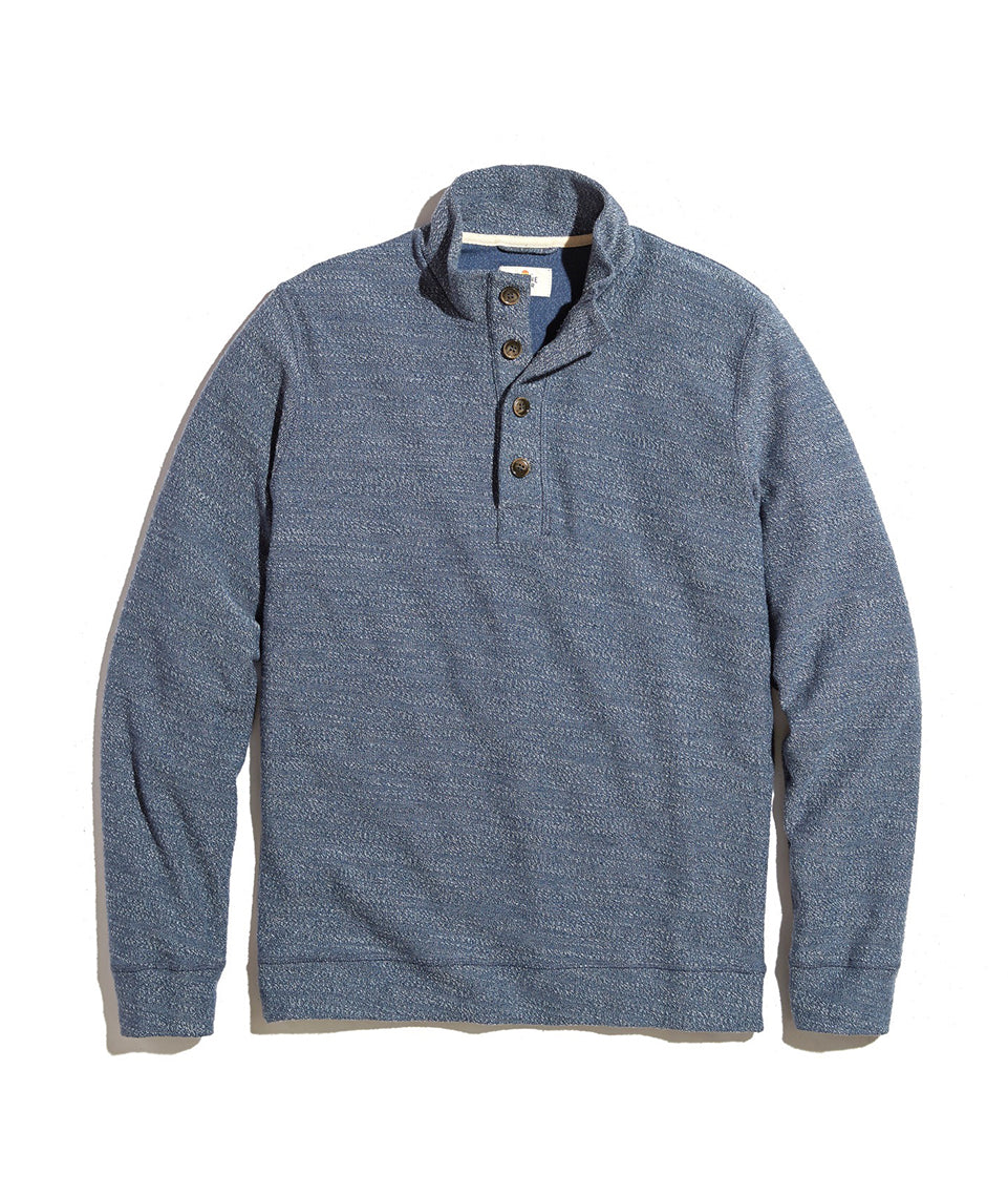 Clayton Pullover in Light Blue Heather
