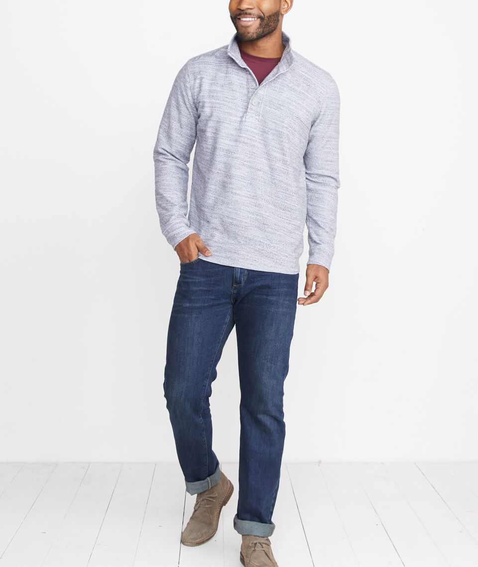 Clayton Pullover in Heather Grey