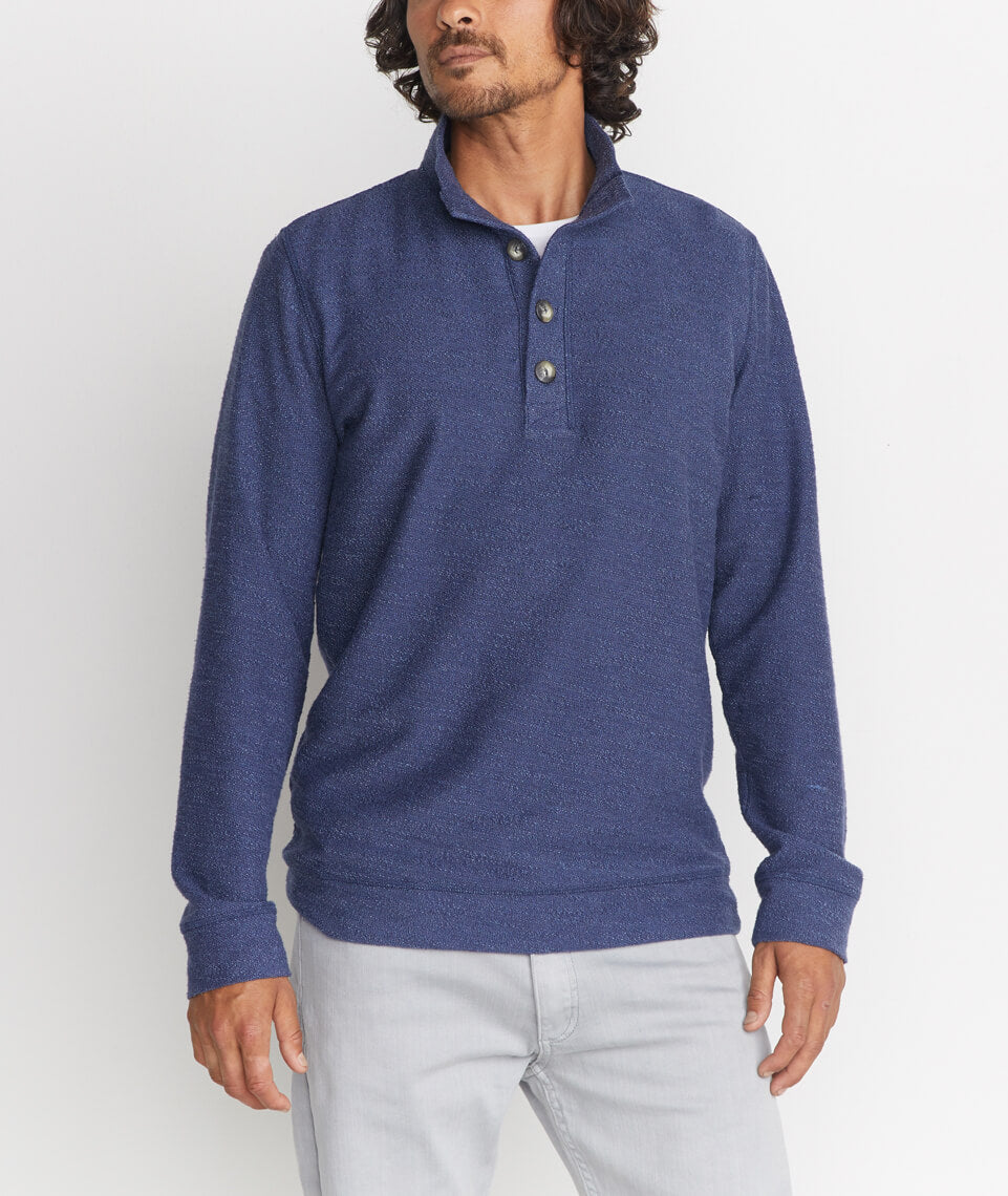 Clayton Pullover in Tonal Navy