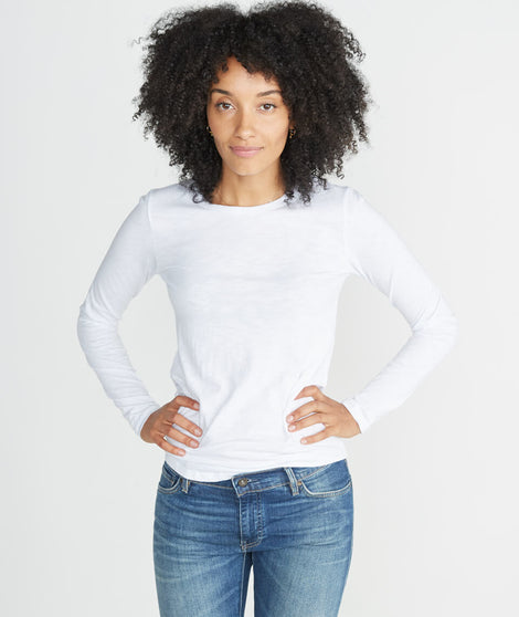 Clover Saddle Longsleeve in White