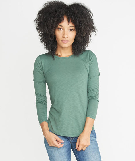 Clover Saddle Longsleeve in Forest Green