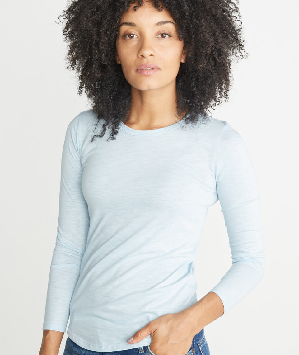 Clover Saddle Longsleeve in Carolina Blue