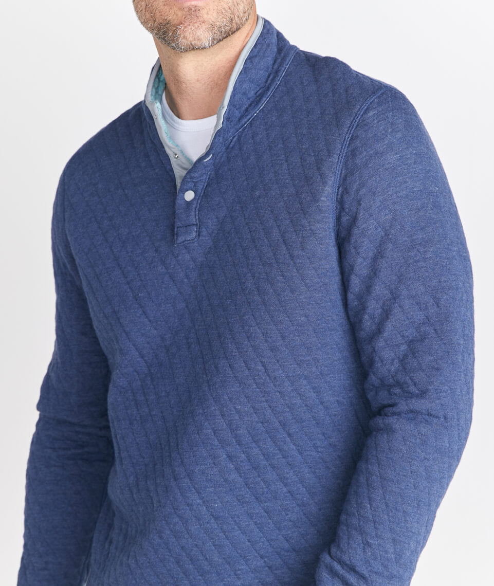 Reversible Corbet Pullover in True Navy/North Atlantic