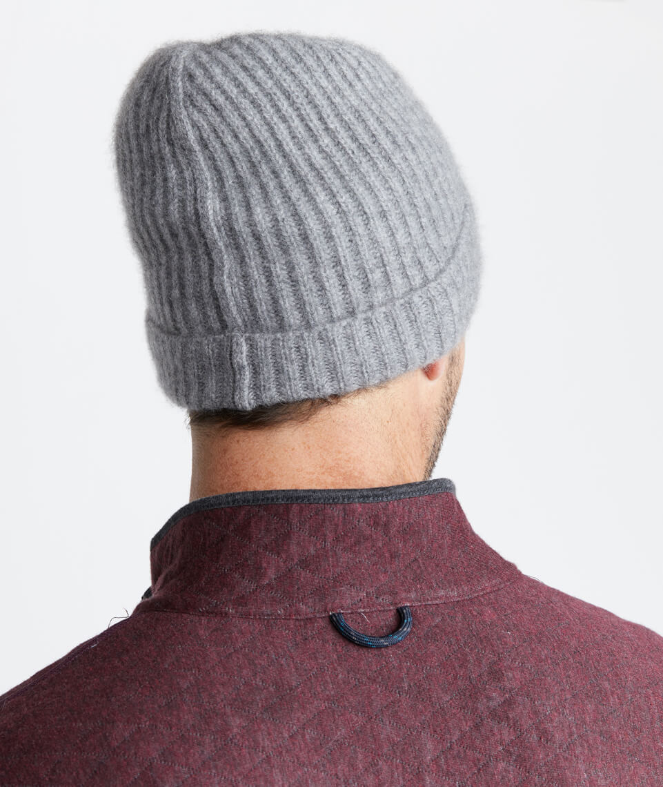 Heather Grey Cashmere Beanie