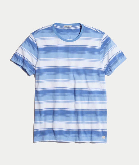 Sandpoint Crewneck in Blue/Peri Stripe