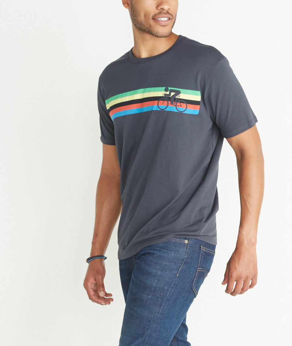 Cycle Stripes Graphic Tee