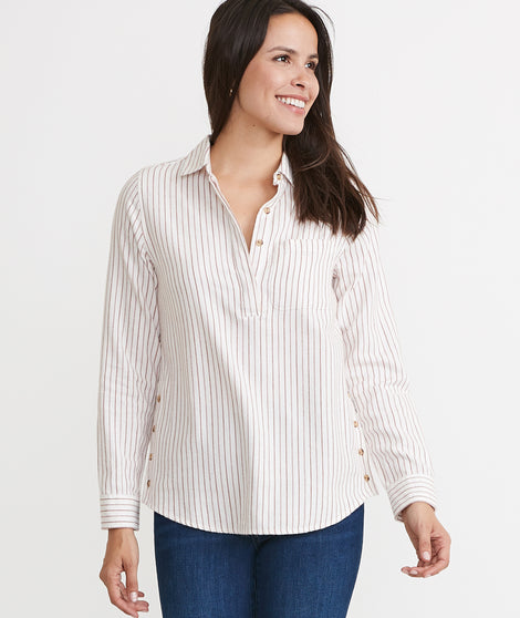Dakota Popover in Henna Stripe