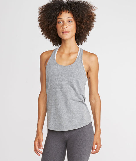 Danica Sport Tank in Heather Grey
