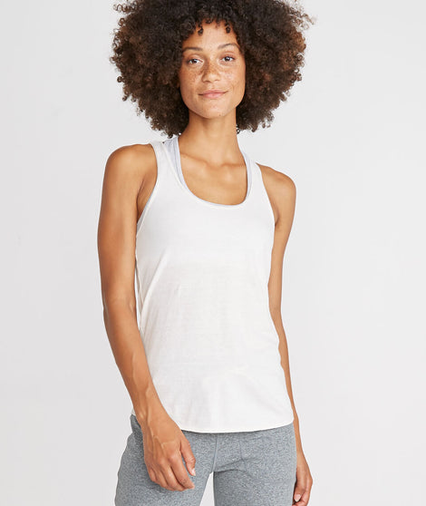 Danica Sport Tank in Off White