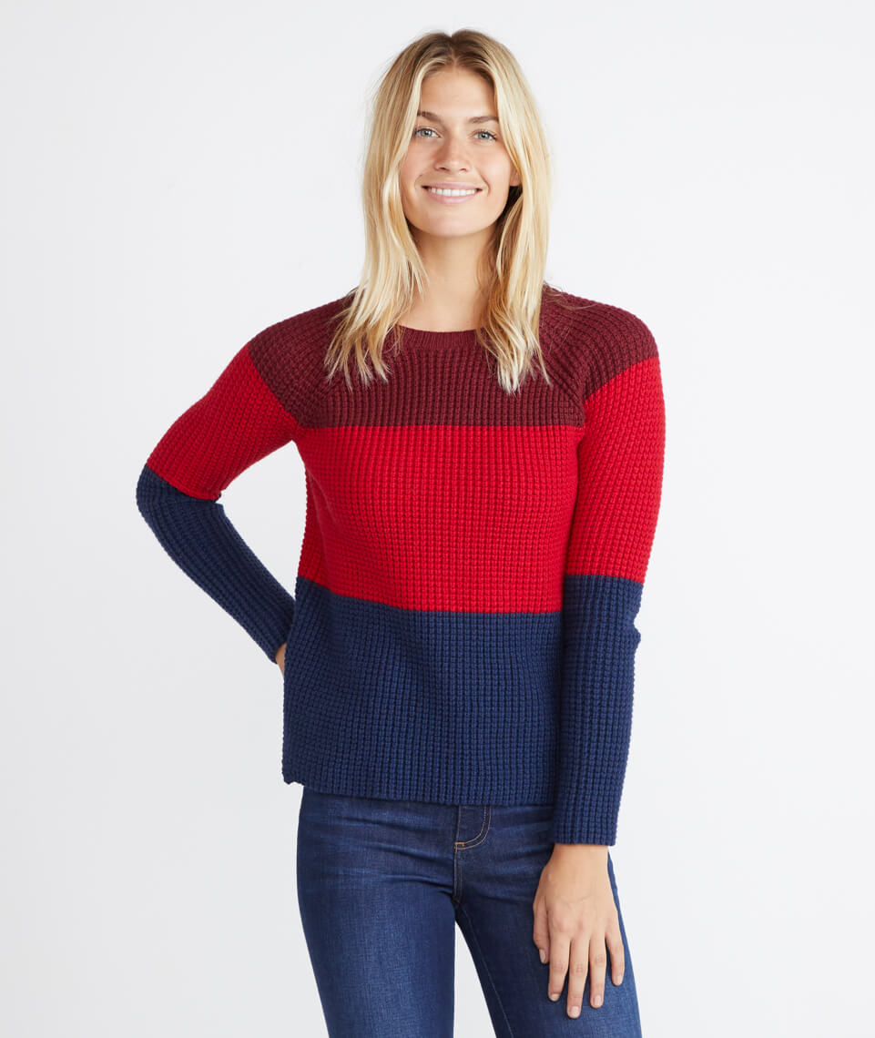 Delaney Pullover in Block Stripe