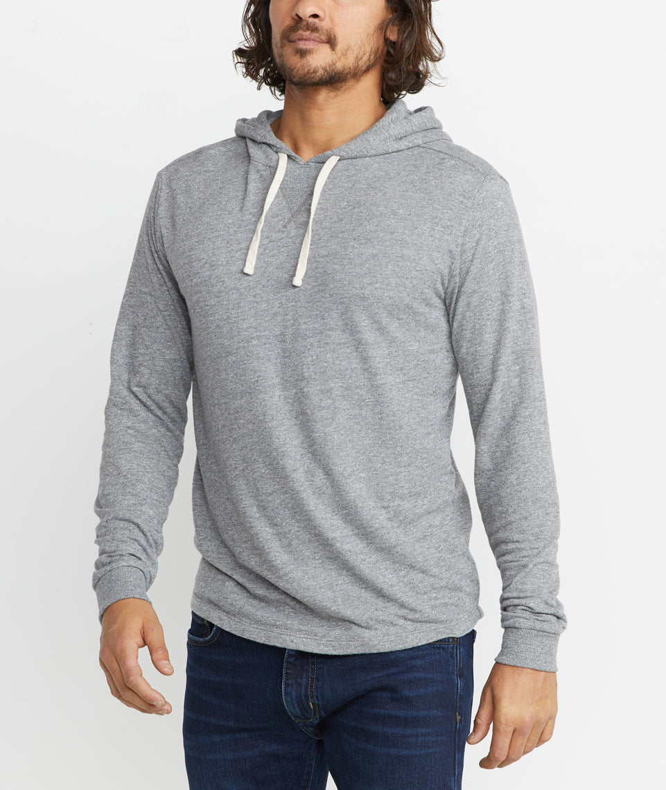 Double Knit Hoodie in Heather Grey