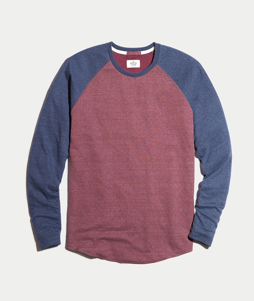 Double Knit Baseball Raglan in Port Royal