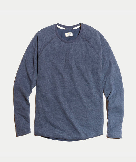 Double Knit Baseball Raglan in Faded Aegean