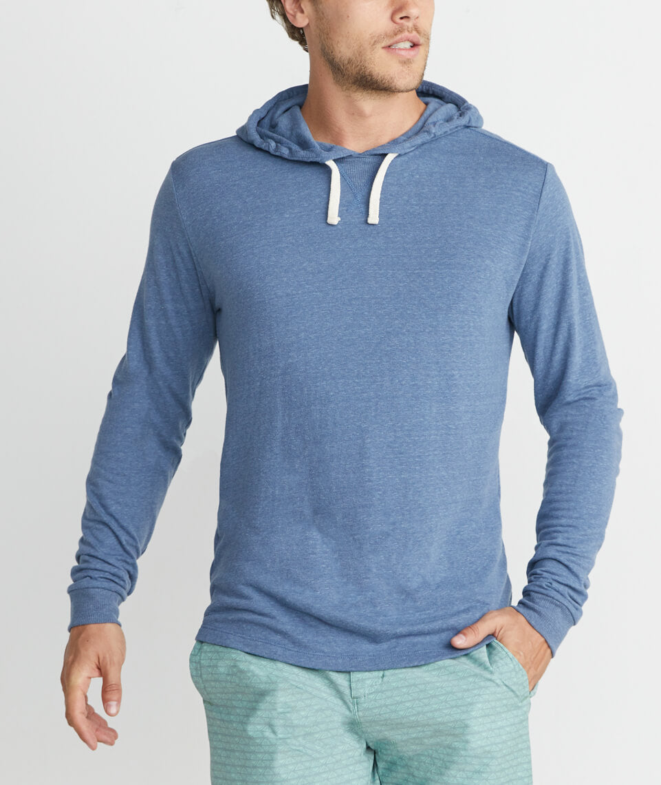 Double Knit Hoodie in Navy
