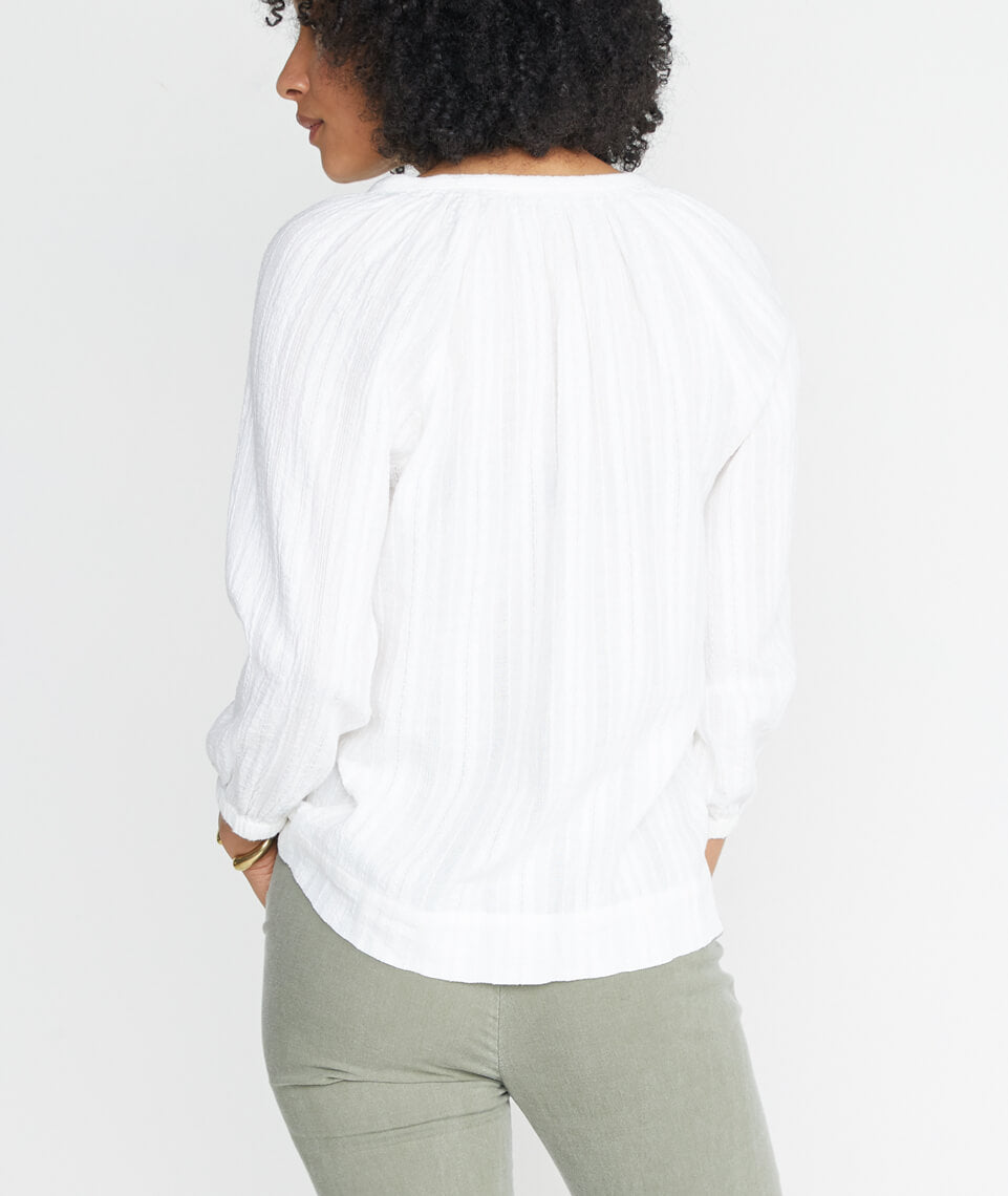 Penny Blouse in Ivory