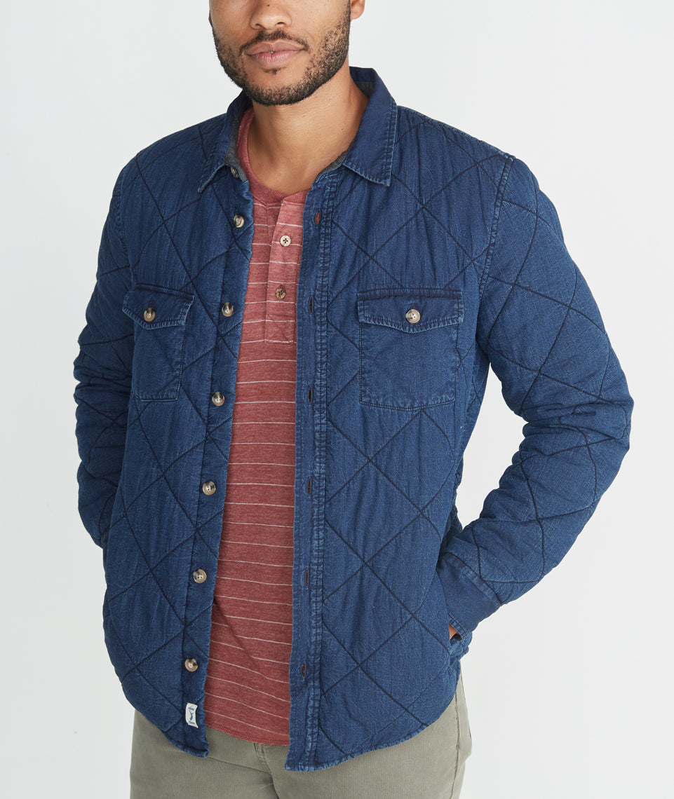 Easton Indigo Quilted Camping Shirt