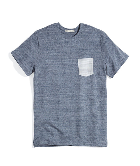 Signature Pocket Tee in Denim Neps