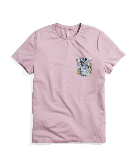 Signature Pocket Tee in Mauve Shadows
