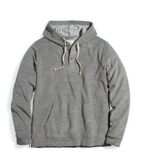 La Jolla Pullover Beach Hoodie in Heather Grey