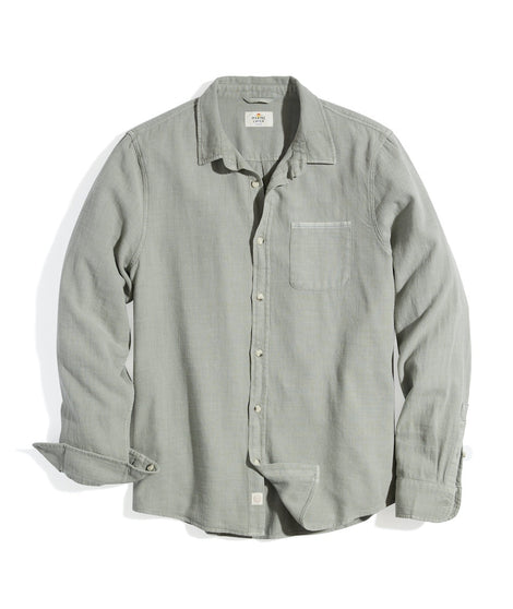 Classic Fit Selvage Shirt in Faded Olive