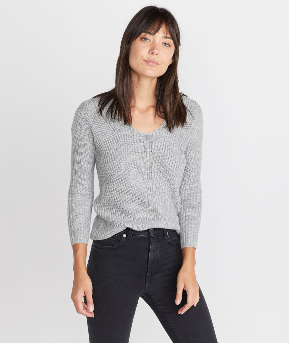 Elisa Pullover in Heather Grey