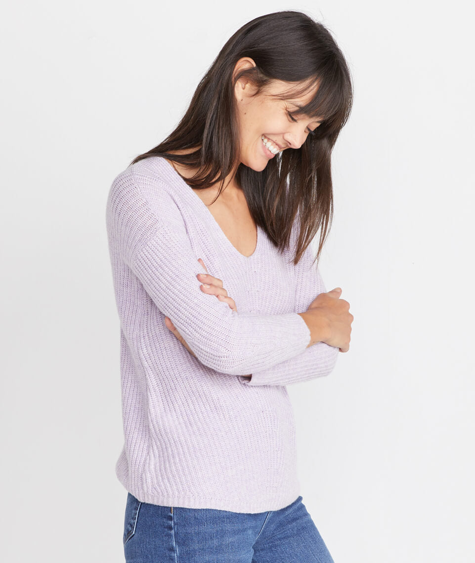 Elisa Pullover in Heather Lilac