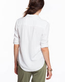 Women's Rayon Buttondown - Lily White