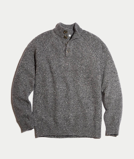 Fillmore Fishermans Sweater in Soot