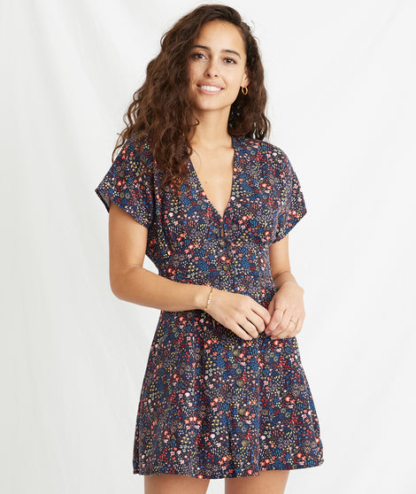 Camila Dress in Multi Floral