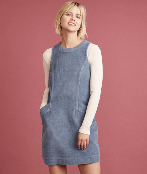 Florence Shift Dress in Indigo Denim