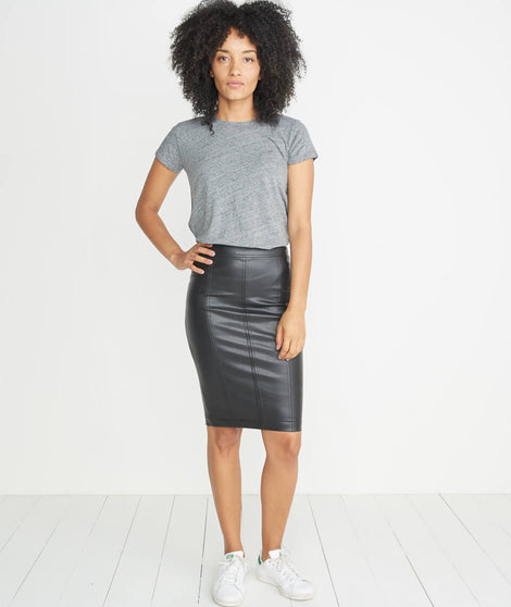 Ginger Leather Skirt