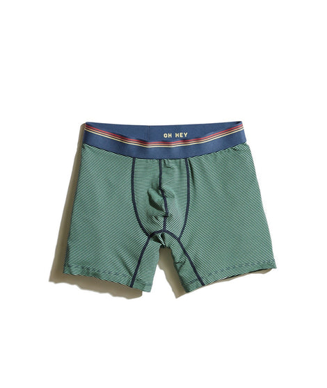 Best Boxer Briefs Ever in Green/Navy Stripe