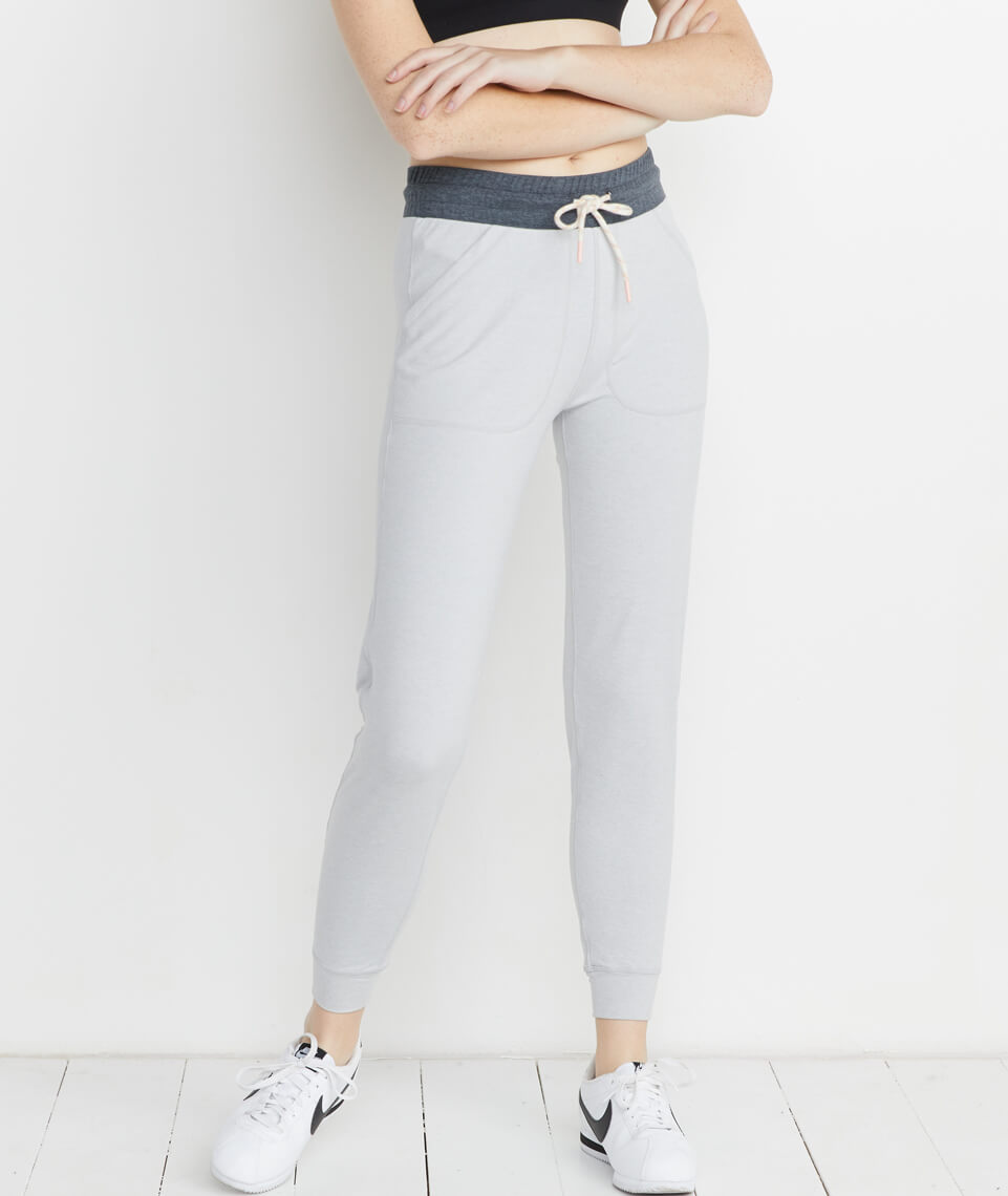 Harper Sport Jogger in Light Heather Grey