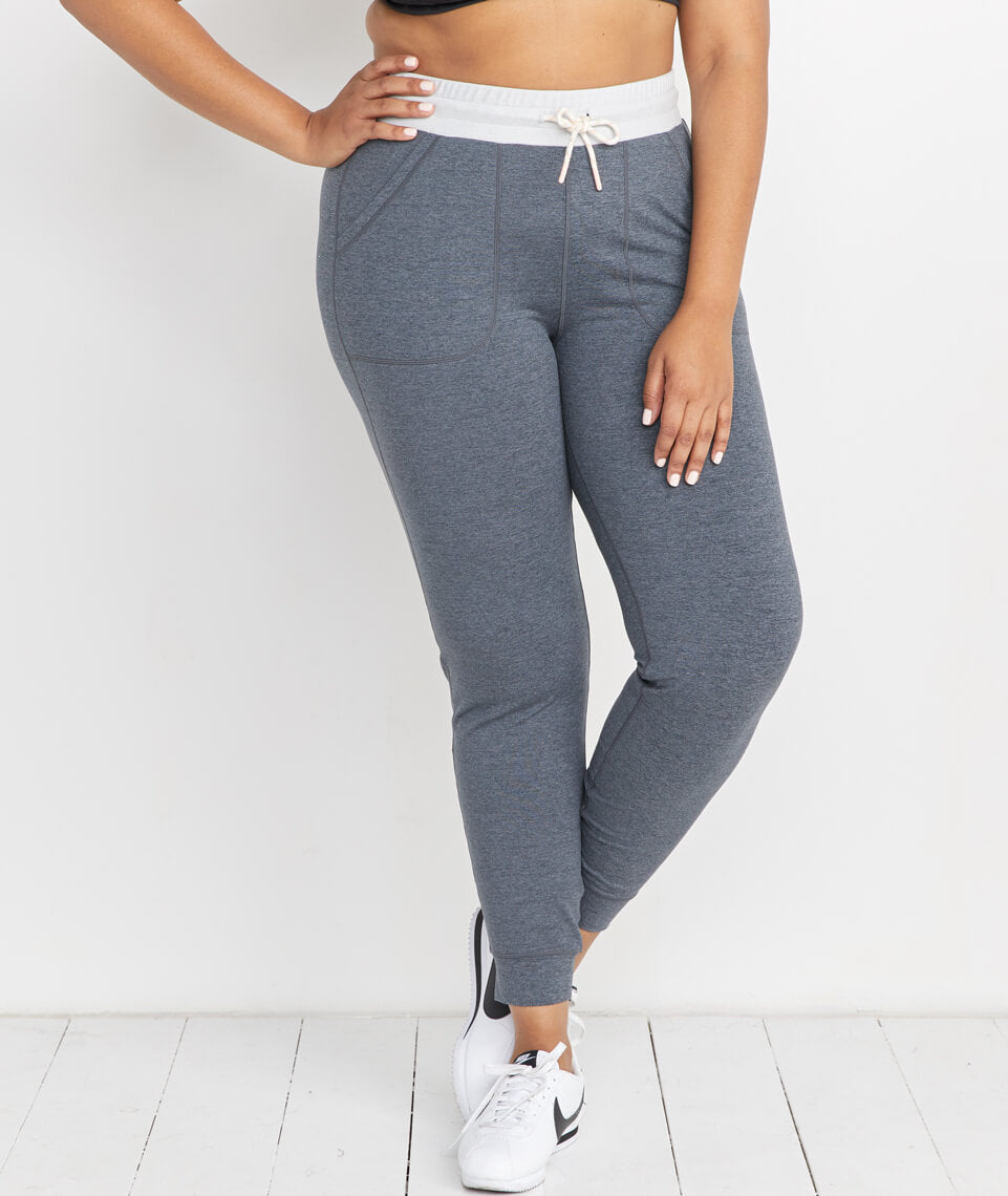 Harper Sport Jogger in Dark Heather Grey