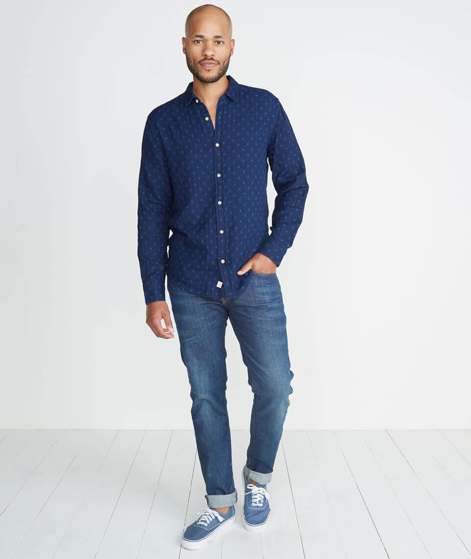 Hudson Indigo Button Down