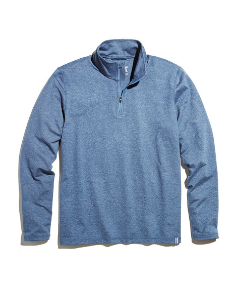 Huntley Sport Quarter Zip in Navy Heather