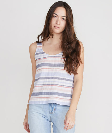 Jackie Tank in Blue Multi Stripe