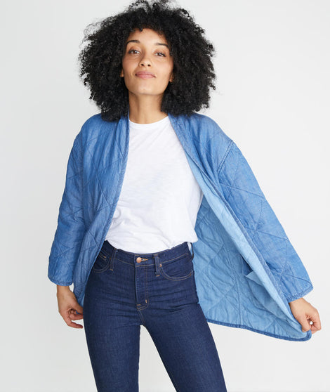 Jane Quilted Indigo Jacket