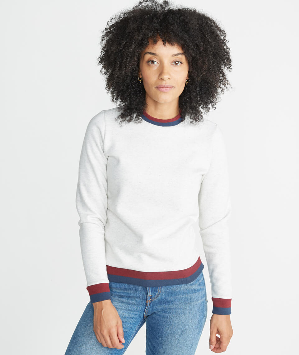 Jenny Crewneck Sweatshirt in Ash/Merlot/Deep Denim