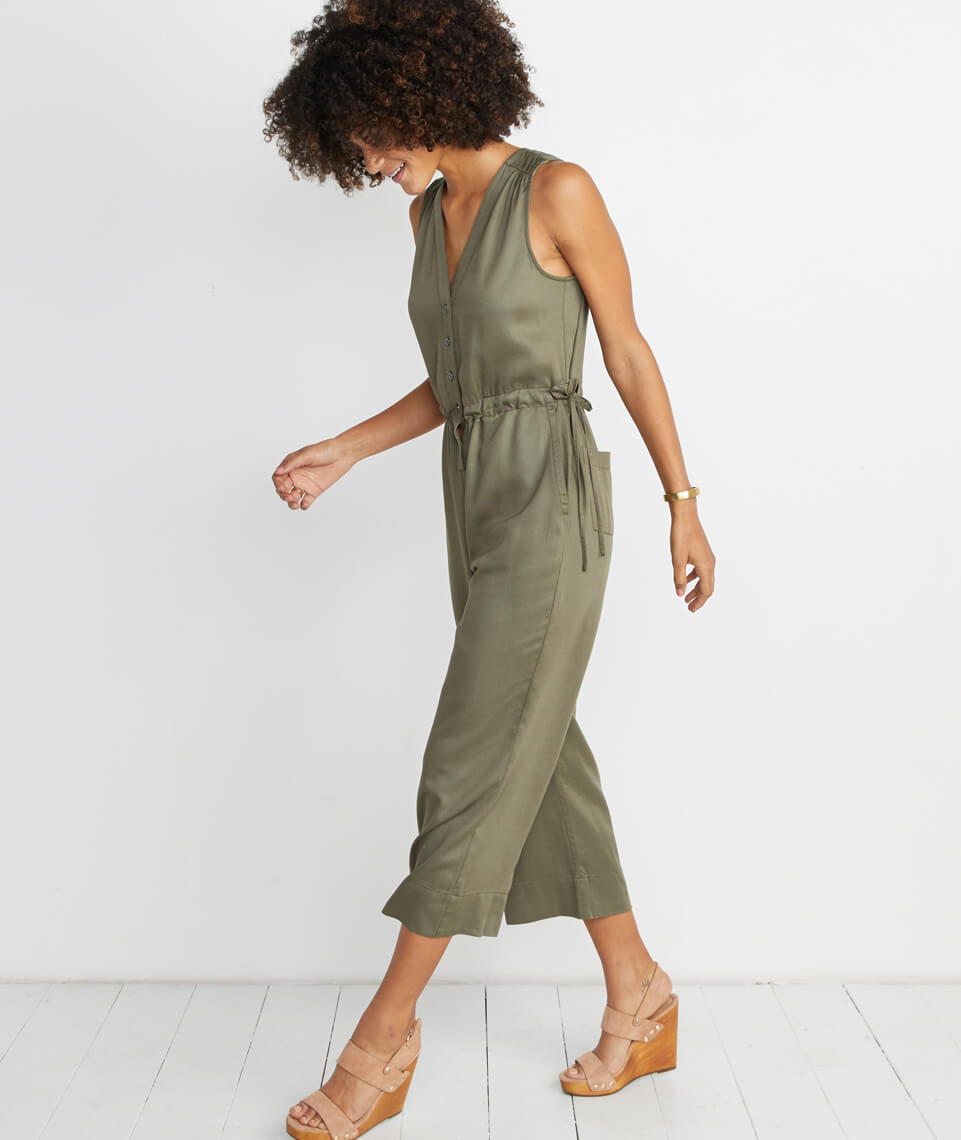 Katy Jumpsuit in Dusty Olive