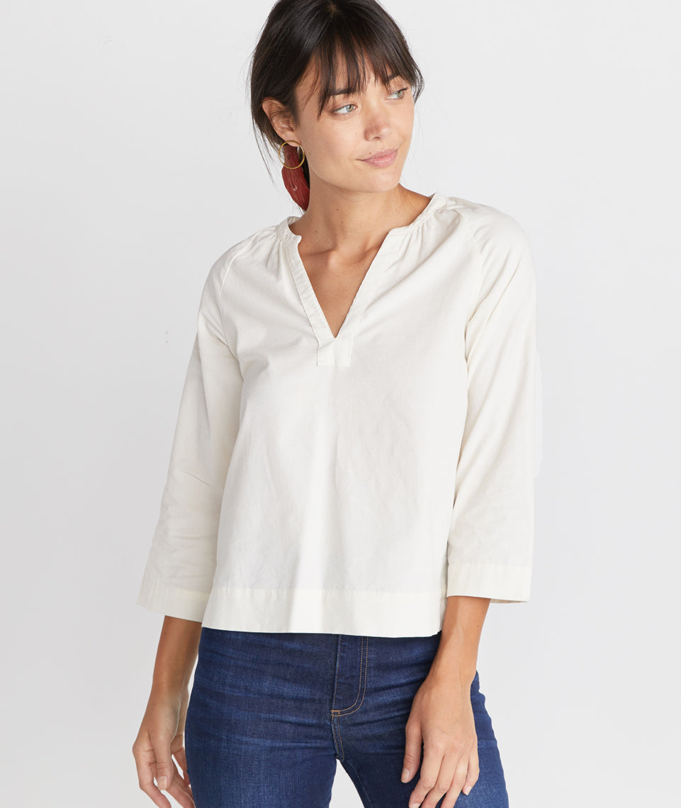 Lenora Blouse in White
