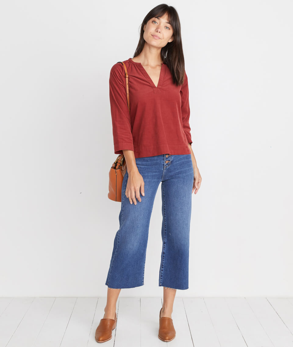 Lenora Blouse in Rosewood