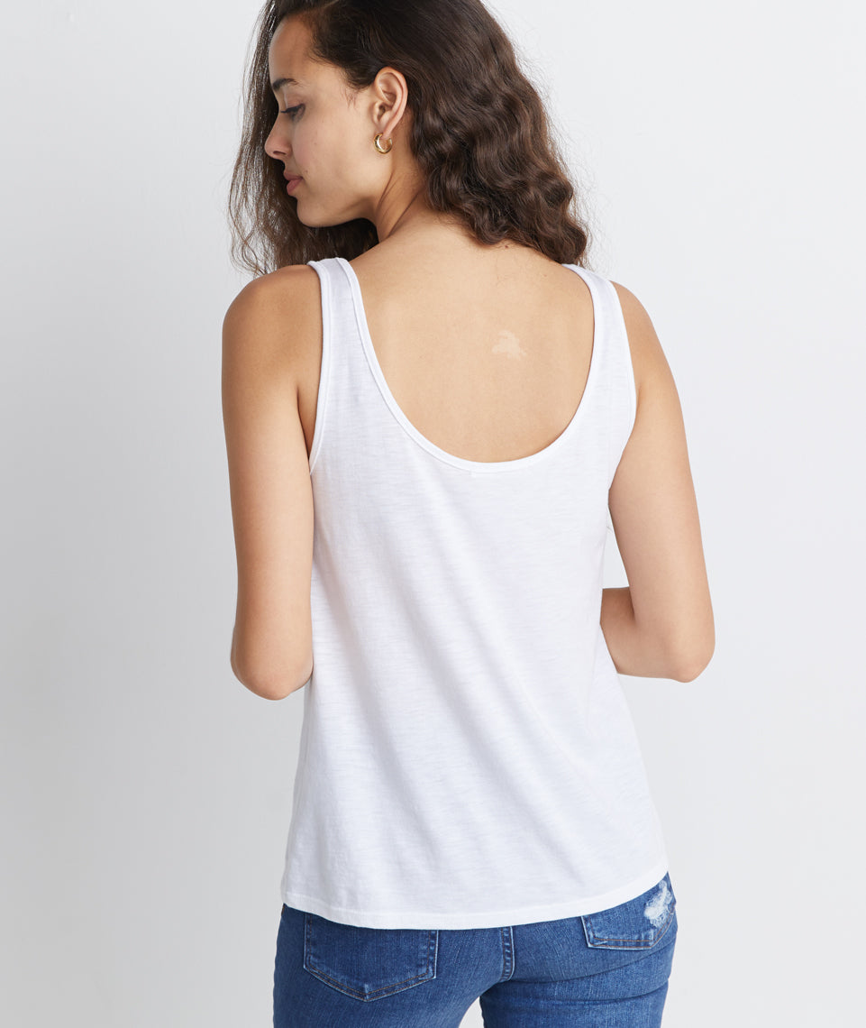 Logan Tank in White