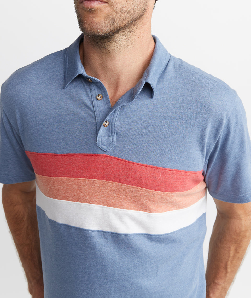 Lucas Polo in Navy Colorblock