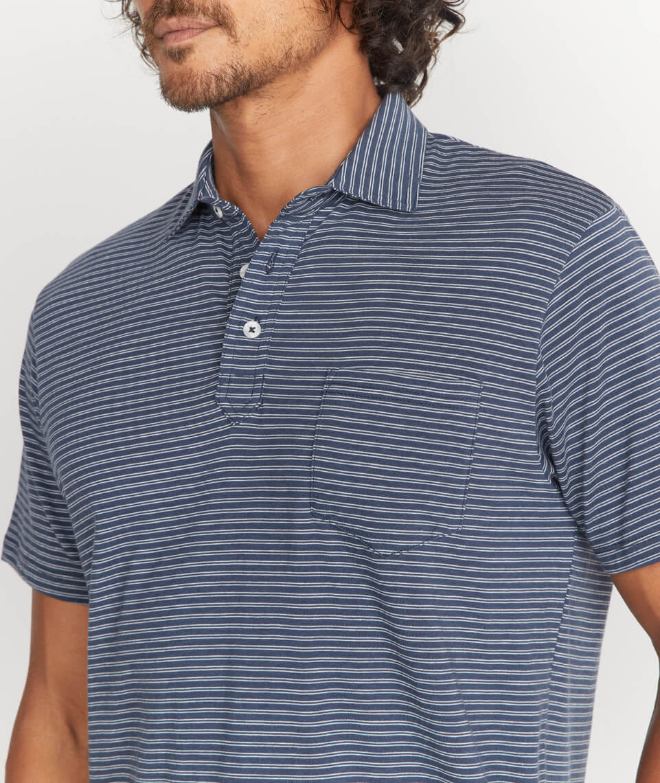 Marco Polo in Navy Stripe