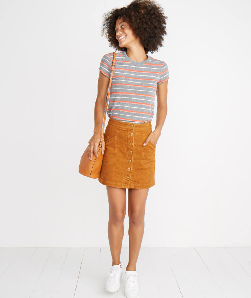 Maxine Mini Skirt in Cathay Spice