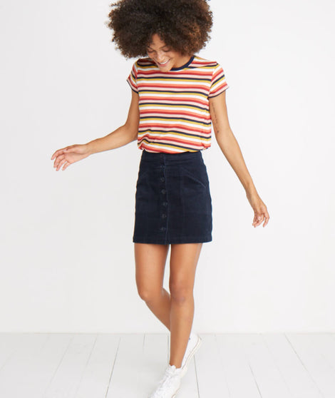 Maxine Mini Skirt in Navy