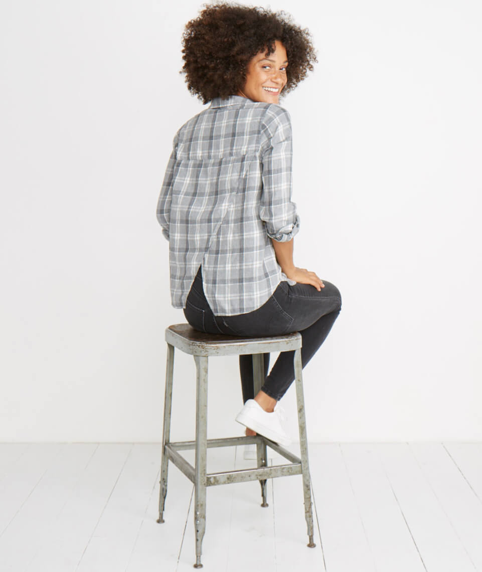 Meadow Button Down in Grey
