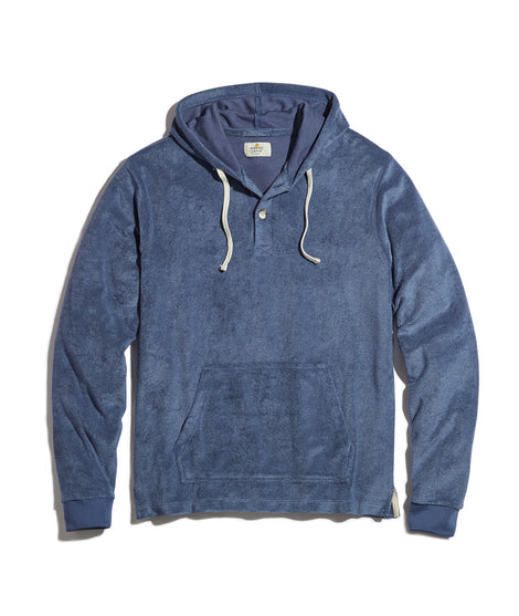 Beach Hoodie in Faded Denim